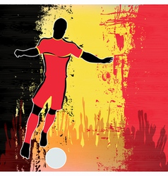 Football Belgium vector image vector image