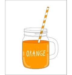 Fresh Orange Smoothie Healthy Food vector image vector image