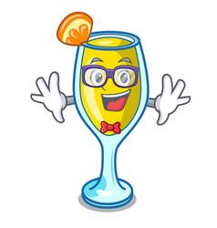 Geek mimosa character cartoon style vector