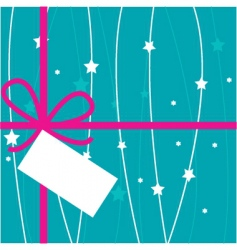 gift tag vector image