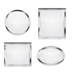 glass transparency frame vector image