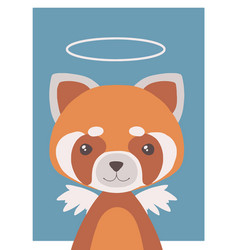 guardian angel red panda vector image