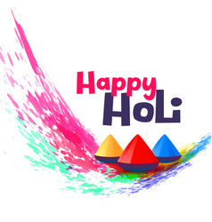 Happy holi greeting design background vector