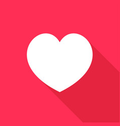 heart icon with a long shadow vector image
