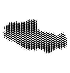 Hexagon halftone tibet chinese territory map vector