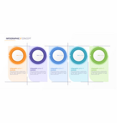 infographic design template five options vector image
