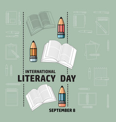 International literacy day september 8 vector