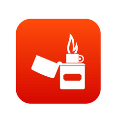 lighter icon digital red vector image