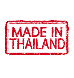 made in thailand stamp text vector image