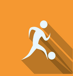 Man silhouette playing sport vector