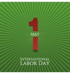 May 1 Paper Label Labor Day vector image
