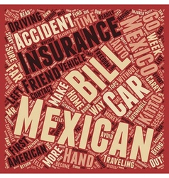 Mexican Car Insurance Don t Leave Home Without It vector image