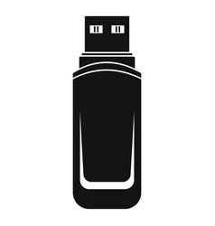 Mini flash drive icon simple style vector