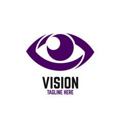 modern vision logo vector image