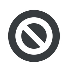 Monochrome round NO icon vector