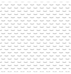 monochrome seamless pattern with eyelashes vector image