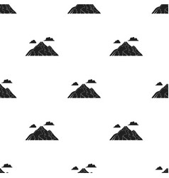 Mountain icon in black style for web vector