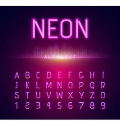 Neon Alphabet Font Style Flat Design vector