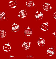new year pattern with christmas balls seamless vector image