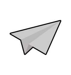 Paper plane white origami icon graphic vector
