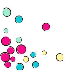 Pop art border with comic polka dot confetti vector