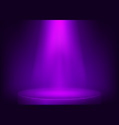 purple scene illuminated spotlight show spotlight vector image