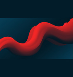 red abstract fluid wave modern gradient shape vector image