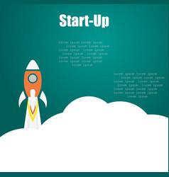rocket start up on a white background vector image