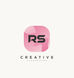 Rs initial letter logo icon design template vector