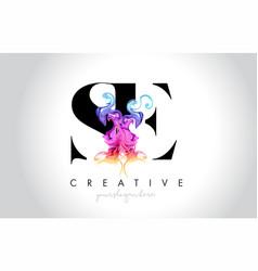 Se vibrant creative leter logo design vector