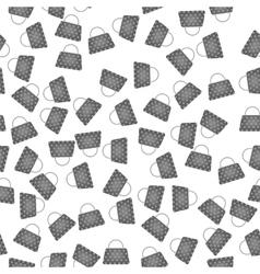 Seamless Womens Grey Handbags Pattern vector