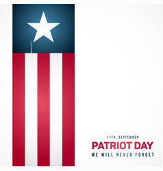 september 11 patriot day in usa anniversary vector image