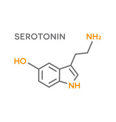 serotonin hormone molecular formula human body vector image