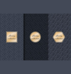 Set of luxury backgrounds vector