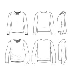 Set of sweatshirts vector