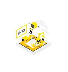 software development technological conveyor icon vector image