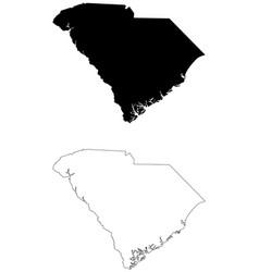south carolina sc state map usa vector image