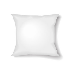 square pillow template isolated on white vector image