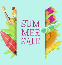 summer sale banner brochure flyer poster best vector image