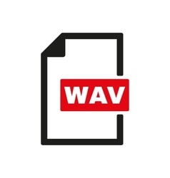 The WAV icon File audio format symbol Flat vector image