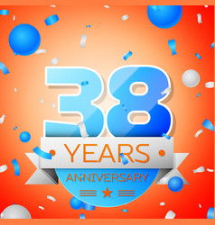 Thirty eight years anniversary celebration vector