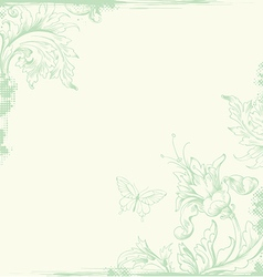 vintage background green vector image