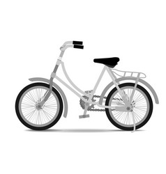 vintage bicycle on white background vector image