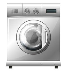 Washing machine on white background vector image vector image