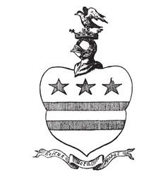 Washington arms in north-east england vintage vector