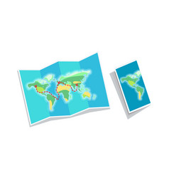 world map booklet isolated on white background vector image