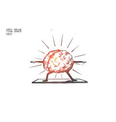 Yoga brain concept hand drawn isolated vector