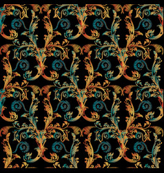 embroidery damask seamless pattern tapestry vector image
