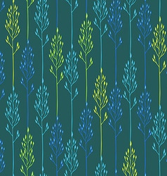 Floral pattern with spikelets and grass vector image