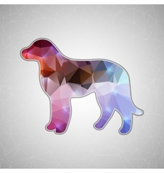 Creative concept dog icon isolated on vector image
